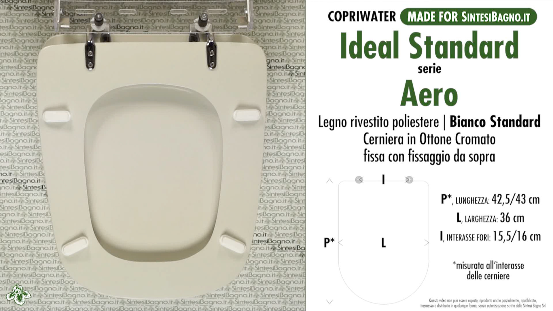 Wc Seat Made For Wc Aero Ideal Standard Model Standard White Type Dedicated Sintesibagno Shop Online
