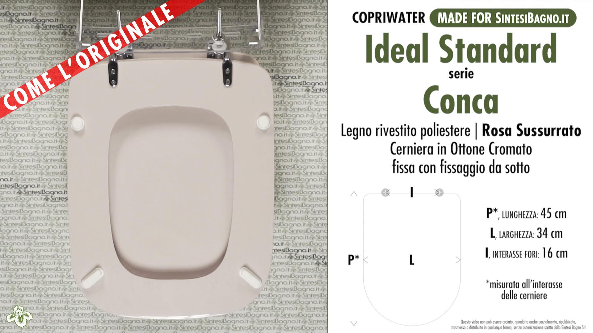 Sedile Wc Copriwater Bianco Ideal Standard Conca.Copriwater Per Wc Conca Ideal Standard Rosa Sussurrato Ricambio Dedicato Sintesibagno Shop Online