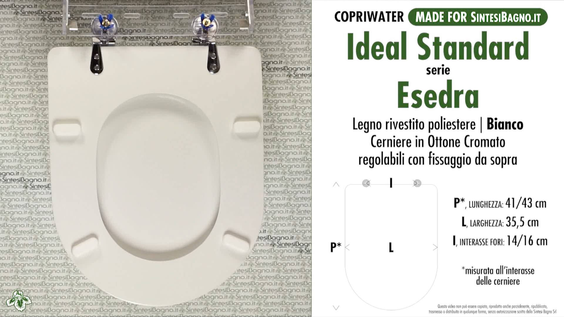 Copriwater per wc esedra ideal standard ricambio for Copriwater ideal