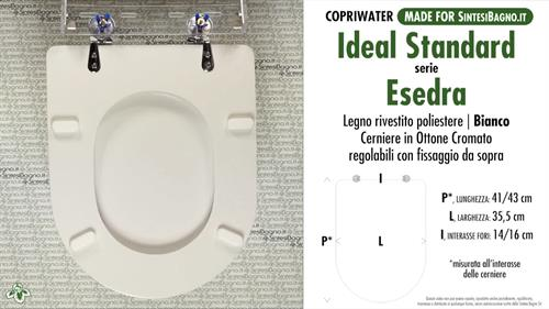 Copriwater per wc esedra ideal standard ricambio for Esedra water