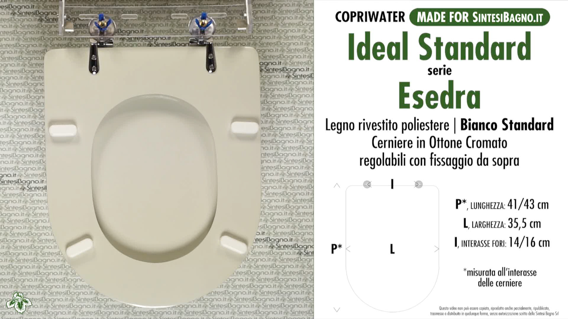 Copriwater per wc esedra ideal standard bianco standard for Serie esedra ideal standard