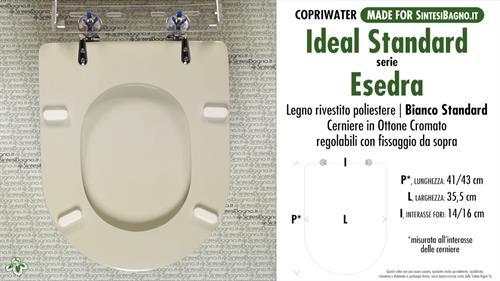 Copriwater per wc esedra ideal standard bianco standard for Ideal standard cantica copriwater