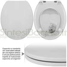 WC-Seat MADE for wc FISH/FALERI model. SOFT CLOSE. PLUS Quality. Duroplast