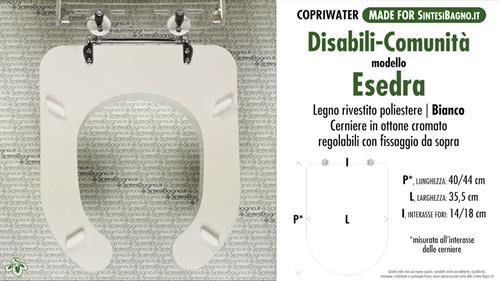 Copriwater per wc esedra disabili ideal standard legno for Copriwater ideal standard esedra