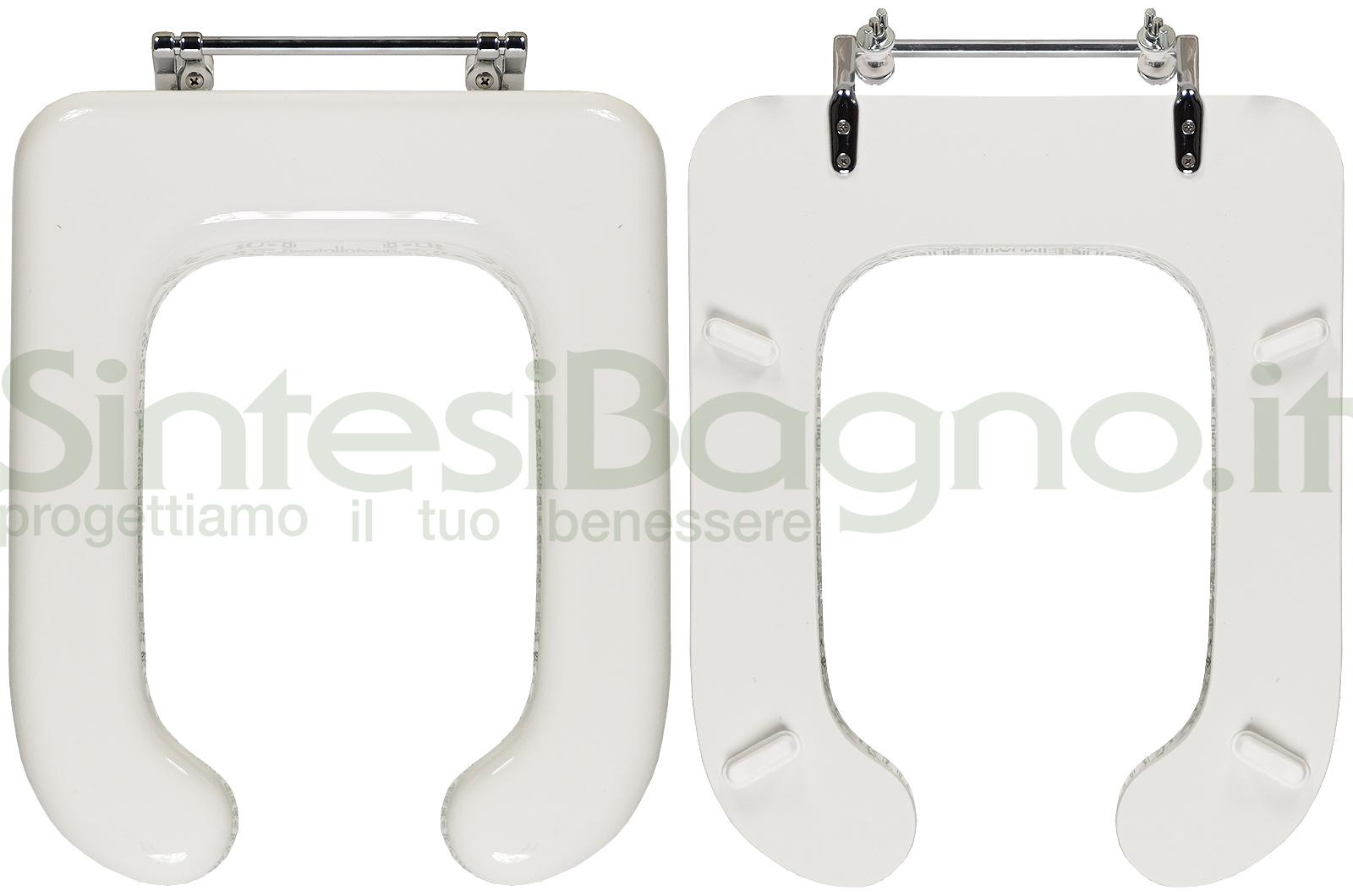 Sedile Wc Disabili Ideal Standard.Copriwater Per Wc Conca Disabili Ideal Standard Legno Ricoperto Sintesibagno Shop Online