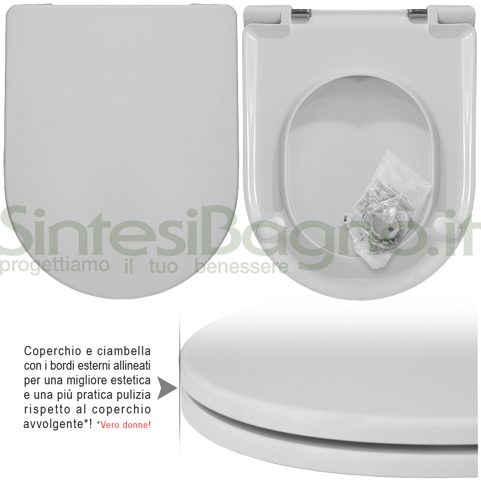 Copriwater Per Wc Esedra Ideal Standard Soft Close Ricambio Dedicato Sintesibagno Shop Online