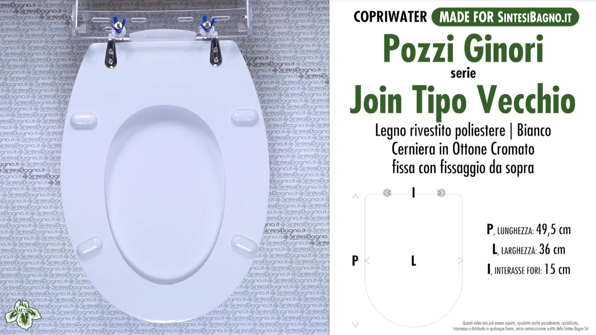 Sedile Per Water Pozzi Ginori.Copriwater Per Wc Join T V Pozzi Ginori Ricambio Dedicato Legno Rivestito Sintesibagno Shop Online