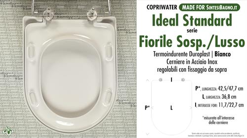 Copriwater per wc fiorile sospeso lusso ideal standard for Ideal standard cantica copriwater