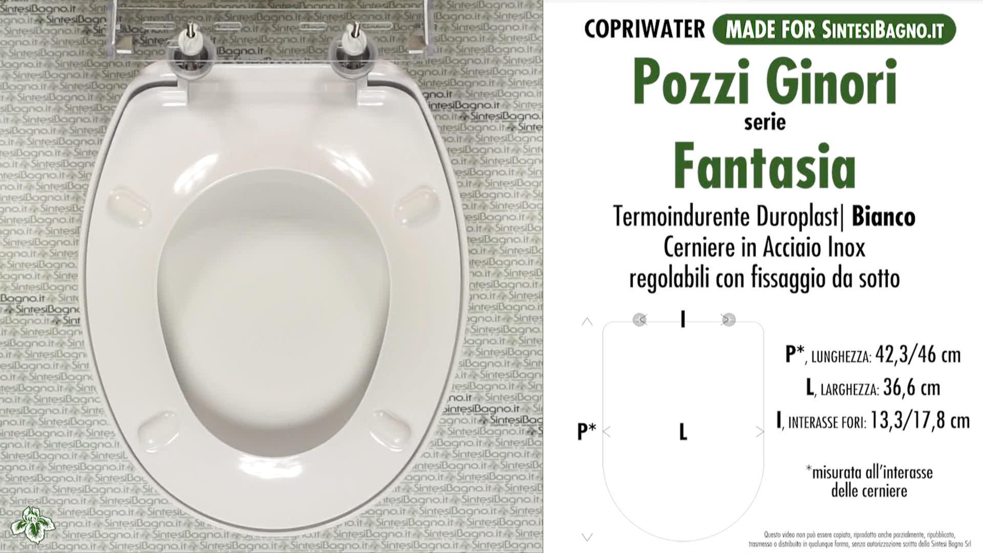 Pozzi Ginori Sedile Wc.Copriwater Per Wc Fantasia Pozzi Ginori Ricambio Dedicato Duroplast Sintesibagno Shop Online