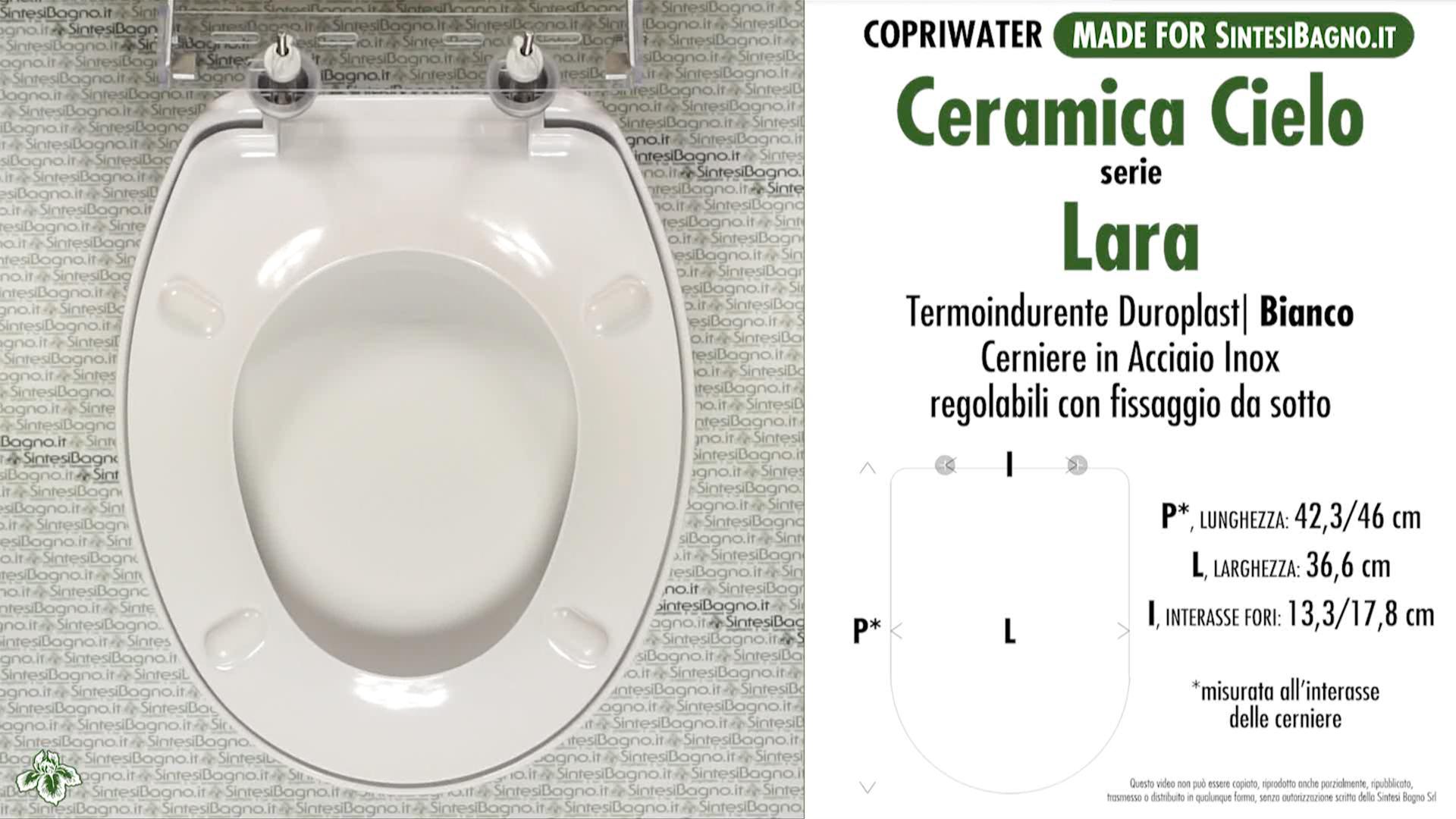Serie Lara Ceramica Cielo.Copriwater Per Wc Lara Cielo Ricambio Dedicato Duroplast Sintesibagno Shop Online