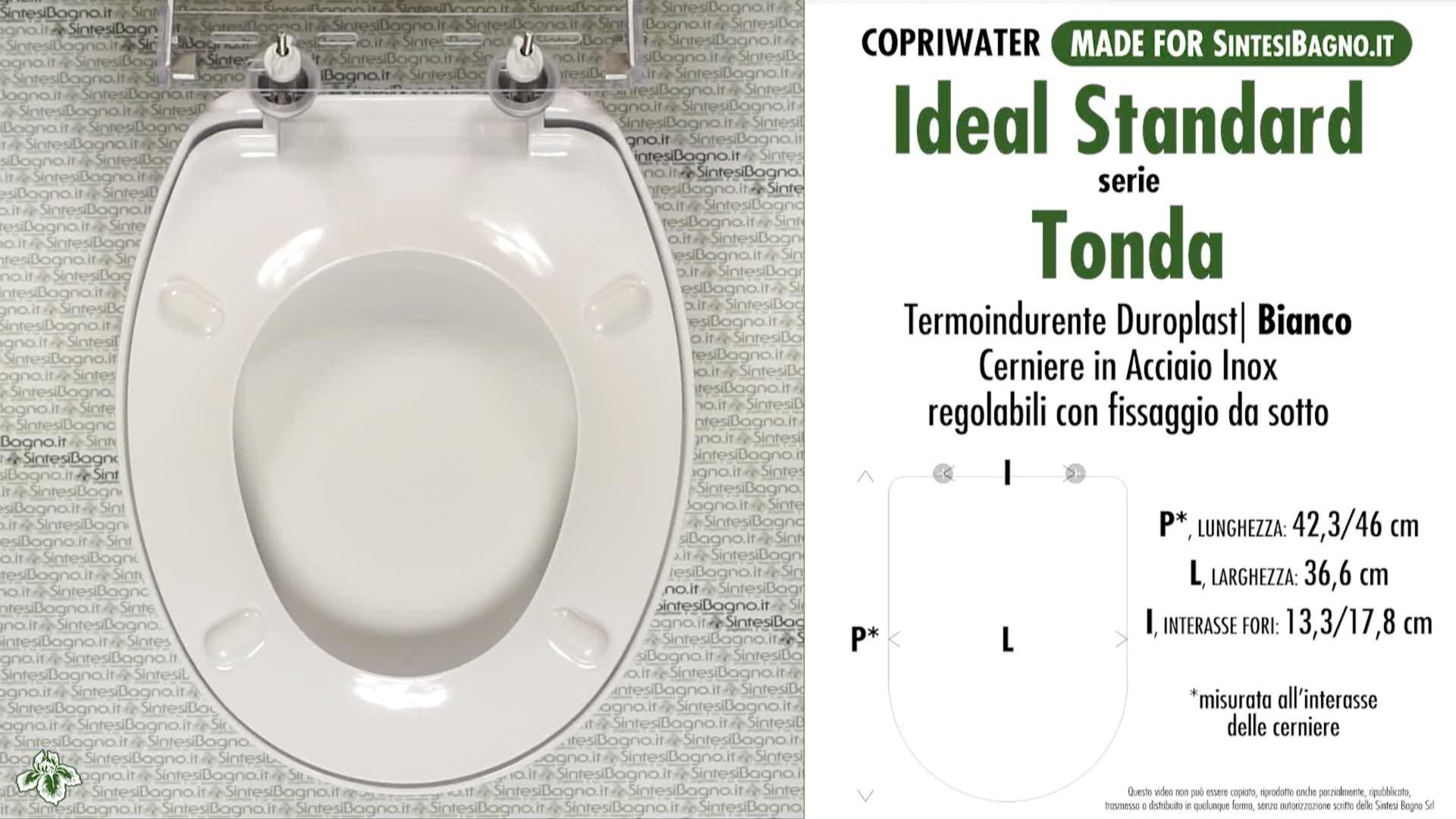 Sanitari Scala Ideal Standard wc-seat made for wc tonda/ideal standard model. type dedicated. duroplast ✓  sintesibagno.shop online!