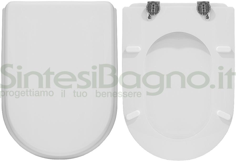 Copriwater Coprivaso Tavoletta SEDILE WC PER FLAMINIA VASO FIDIA Bianco