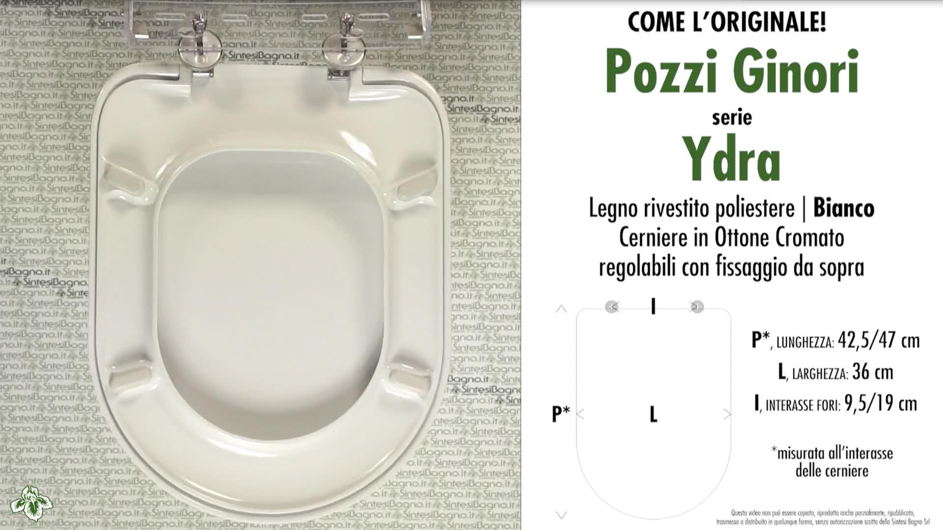 Sedile Wc Pozzi Ginori Ydra.Copriwater Per Wc Ydra Pozzi Ginori Ricambio Come L Originale