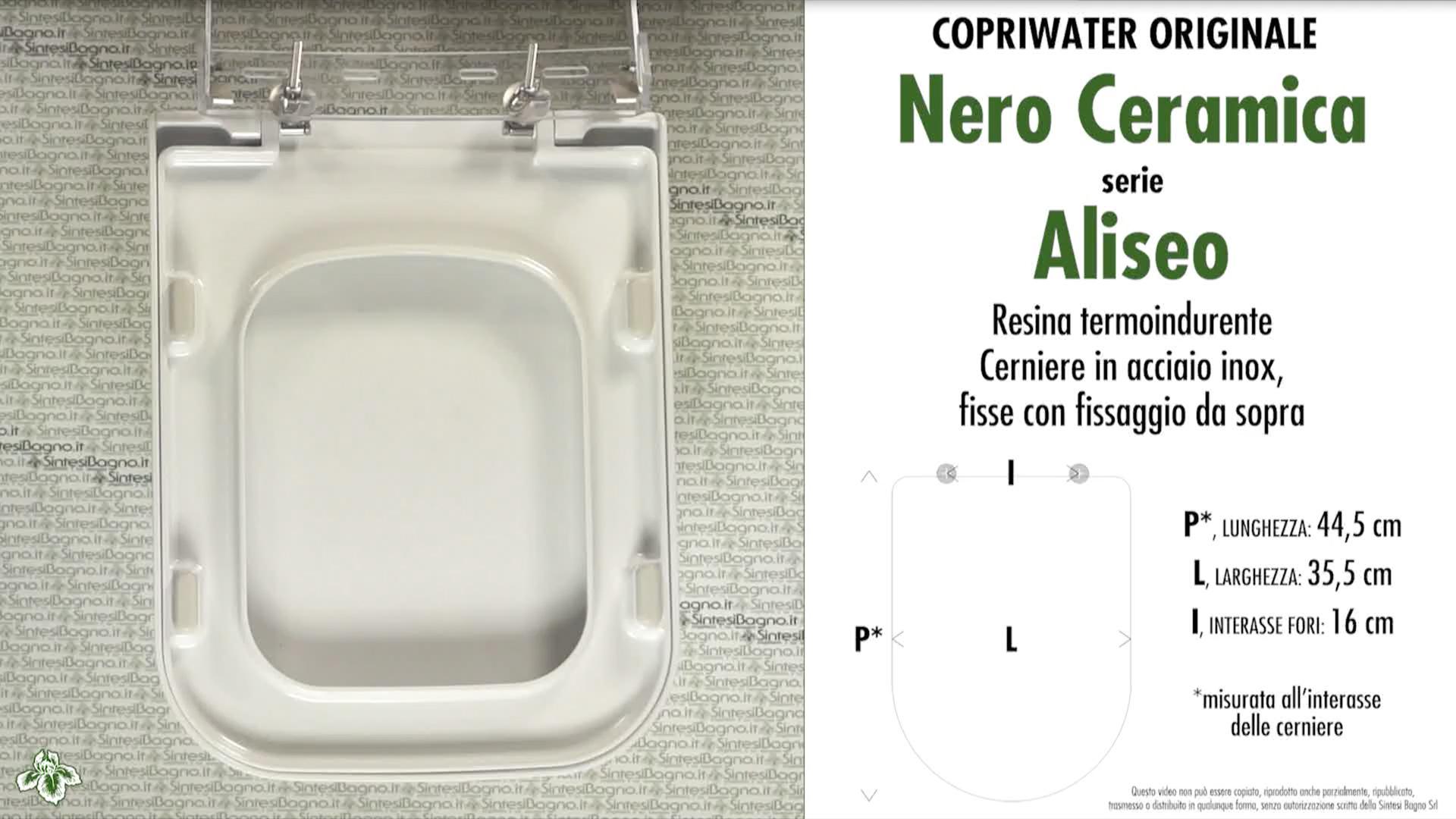 Nero Ceramica Aliseo Prezzi.Abattant Wc Aliseo Nero Ceramica Modele Type Original Duroplast