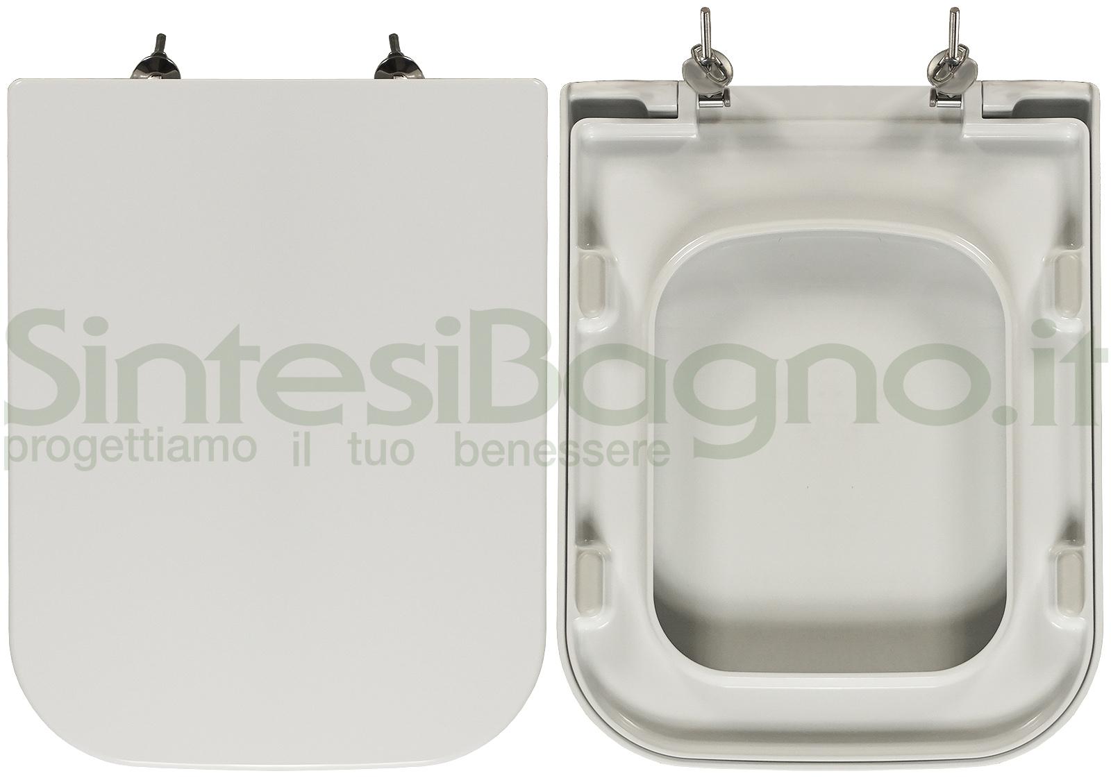 Sanitari Nero Ceramica Aliseo.Copriwater Per Wc Aliseo Nero Ceramica Ricambio Originale Duroplast Sintesibagno Shop Online