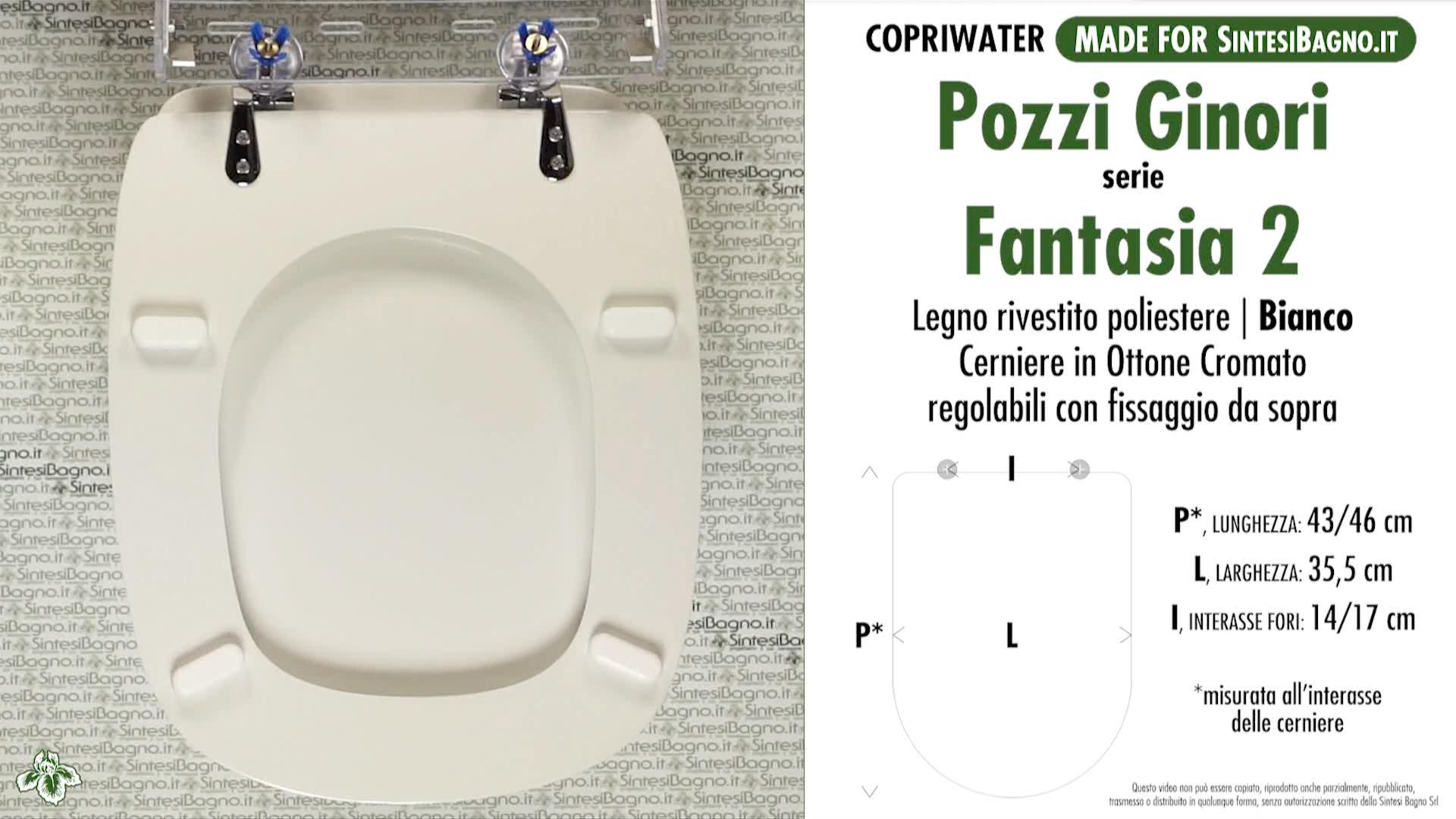 Pozzi Ginori Sedile Wc.Copriwater Per Wc Fantasia 2 Pozzi Ginori Ricambio Dedicato Legno Rivestito Sintesibagno Shop Online