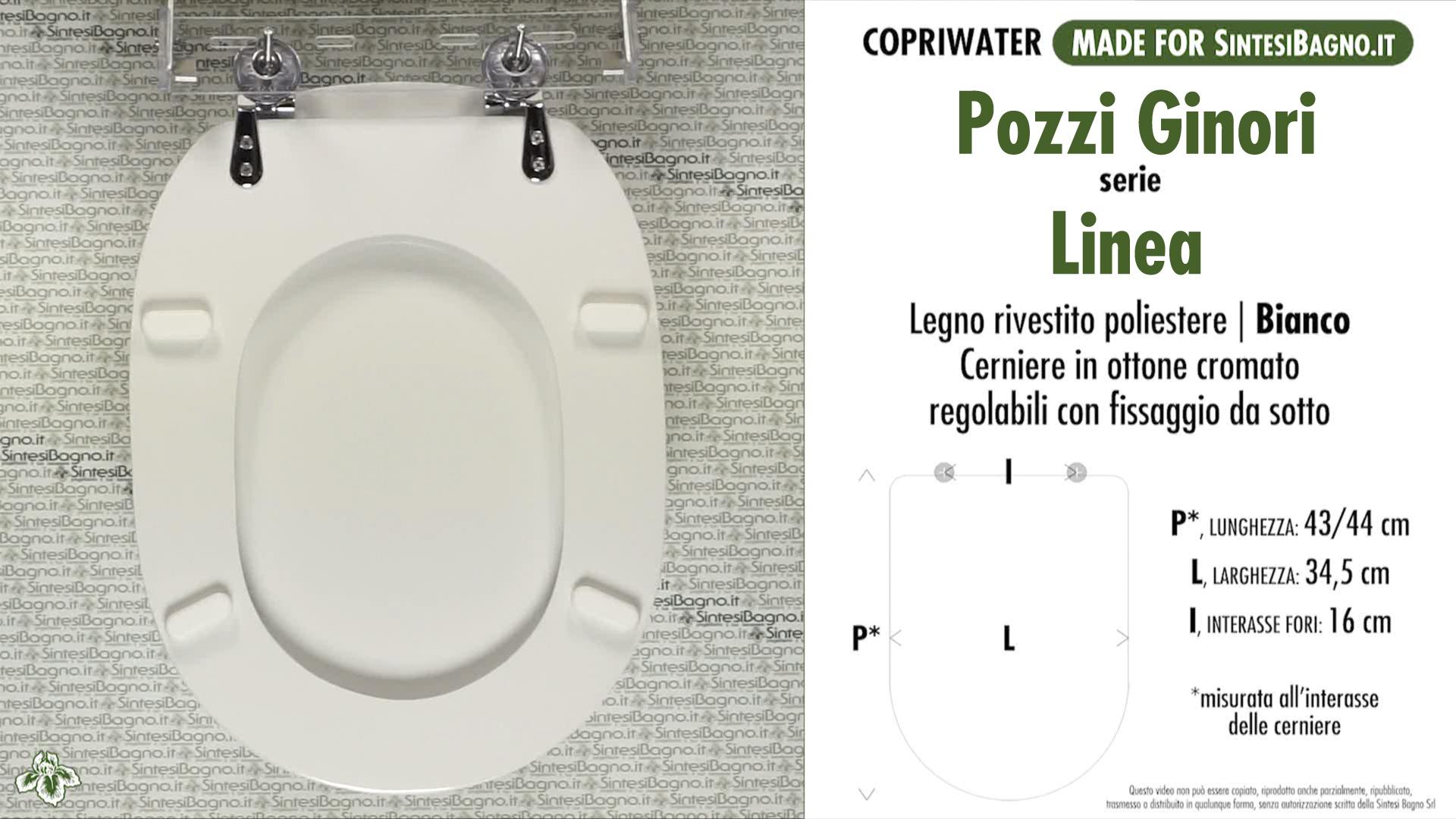 Copriwater Sedile WC per WC POZZI GINORI modello LINEA