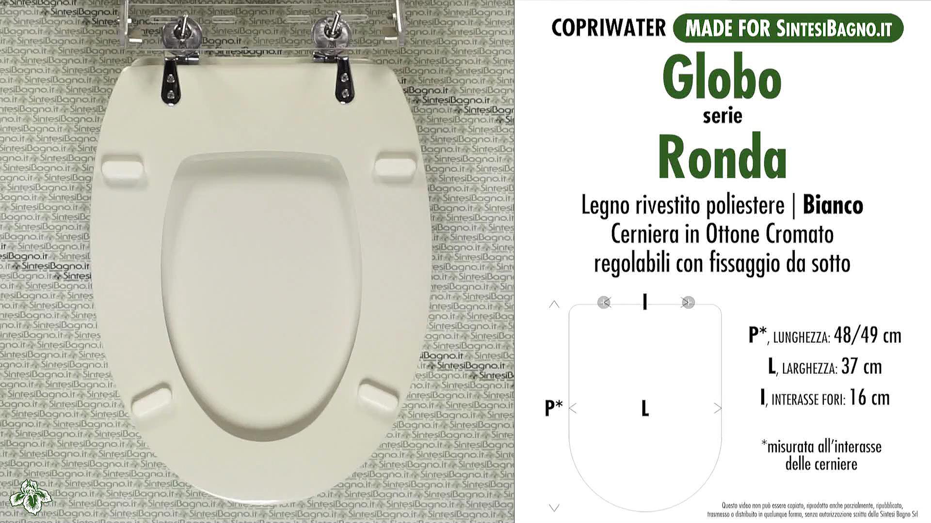 Copriwater per wc ronda globo ricambio dedicato legno for Cambiare tavoletta wc sospeso
