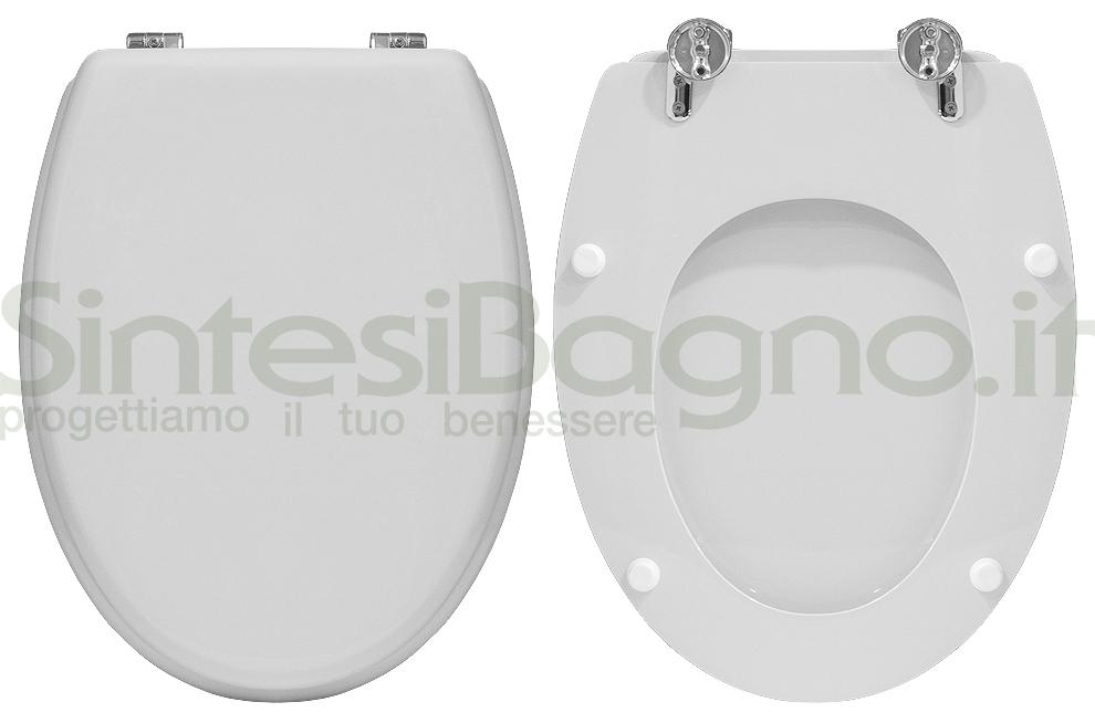 Sedile Wc Ideal Standard Serie Tonda.Copriwater Per Wc Tonda Ideal Standard Ricambio Dedicato Legno Rivestito Sintesibagno Shop Online