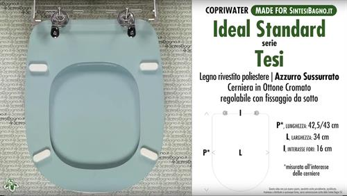 Sedile Wc Ideal Standard Serie Tesi.Wc Seat Made For Wc Tesi Ideal Standard Model Whispered Azure Type Dedicated Sintesibagno Shop Online