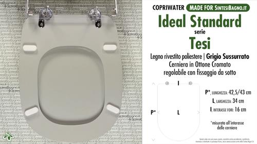 Wc Seat Made For Wc Tesi Ideal Standard Model Whispered Gray Type Dedicated Sintesibagno Shop Online