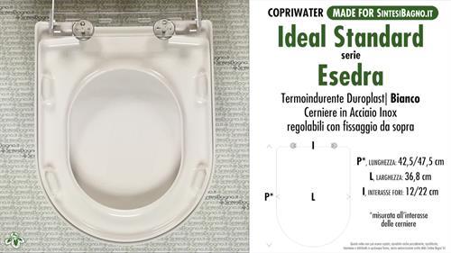 Copriwater per wc esedra ideal standard ricambio for Copriwater ideal standard esedra