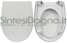 COPRIWATER per wc MUSE 53/56. CATALANO. Ricambio ORIGINALE. SOFT CLOSE.Duroplast