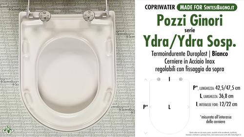 Sedile Wc Pozzi Ginori Ydra.Copriwater Per Wc Ydra Pozzi Ginori Ricambio Dedicato Duroplast Sintesibagno Shop Online