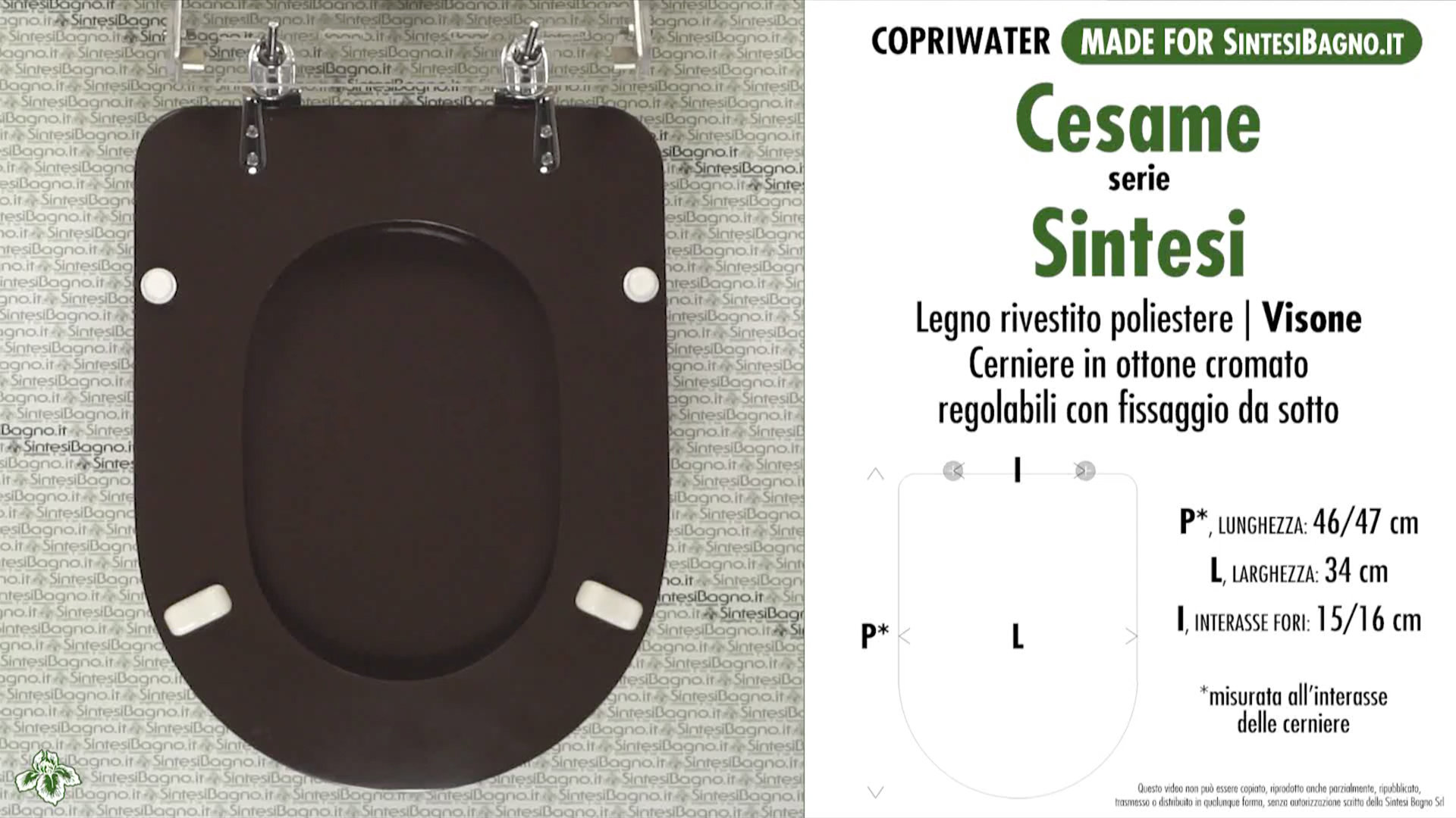 Sedile Wc Cesame Sintesi.Wc Seat Made For Wc Sintesi Cesame Model Cesame Mink Type Dedicated Sintesibagno Shop Online