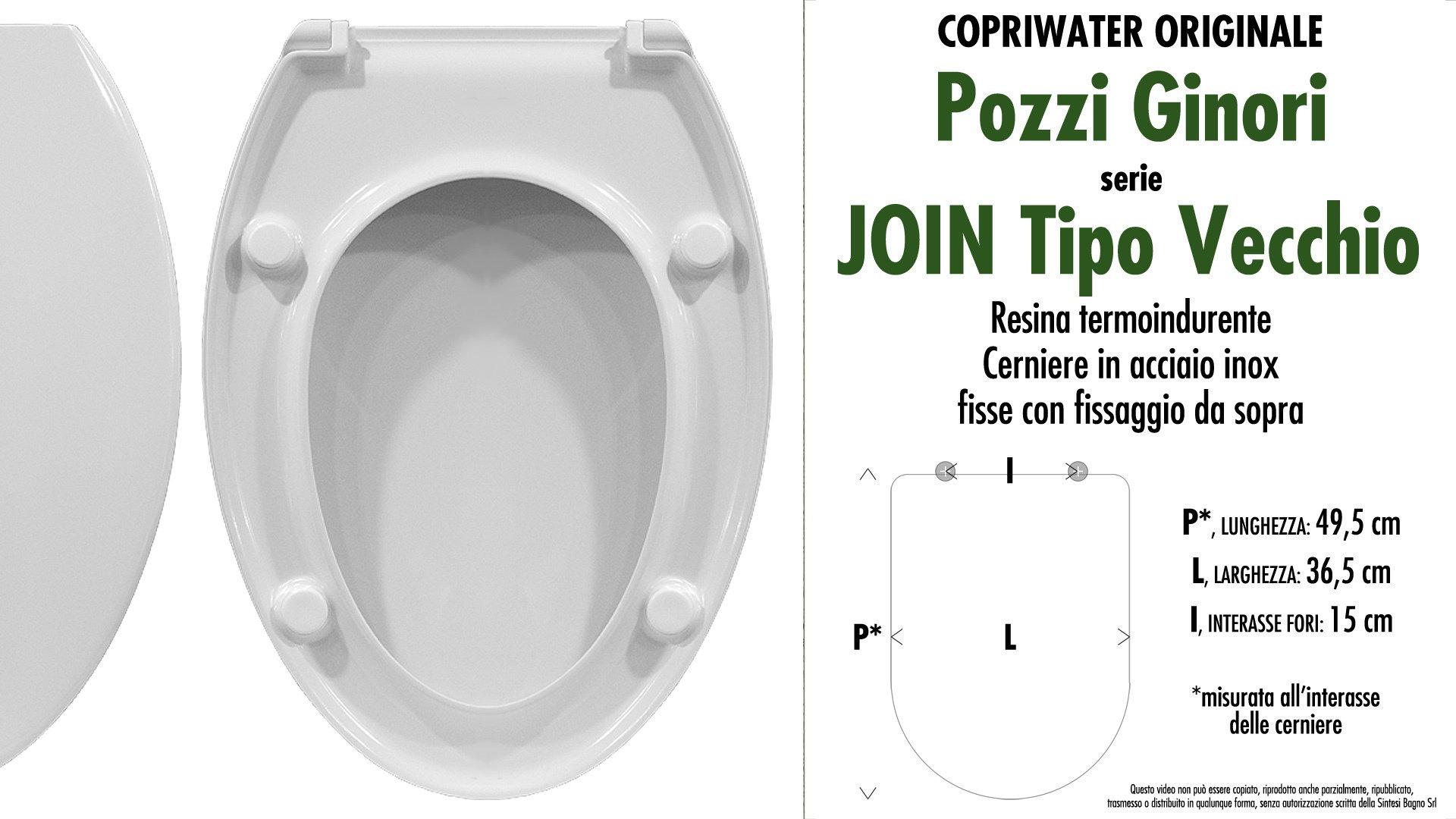 Sedile Per Water Pozzi Ginori.Copriwater Per Wc Join Tipo Vecchio Pozzi Ginori Ricambio Originale Duroplast Sintesibagno Shop Online