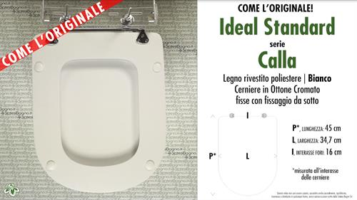 Wc Seat Calla Ideal Standard Model Type Like Original Wood Covered Sintesibagno Shop Online
