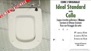 Sedile Wc Ideal Standard Calla.Wc Sitz Calla Ideal Standard Modell Typ Wie Das Original Sintesibagno Shop Online