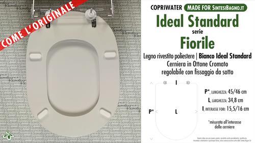 Sedile Ideal Standard Fiorile.Copriwater Per Wc Fiorile Ideal Standard Bianco Standard Come L Originale Sintesibagno Shop Online
