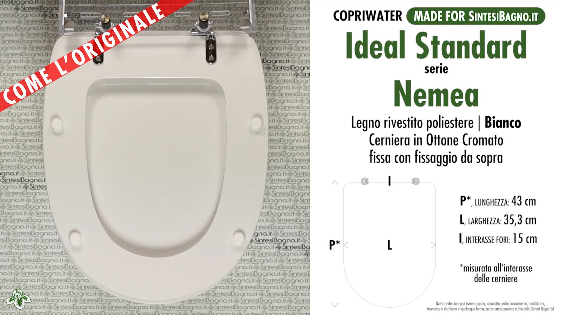 Copriwater per wc nemea ideal standard ricambio come l for Copriwater ideal standard