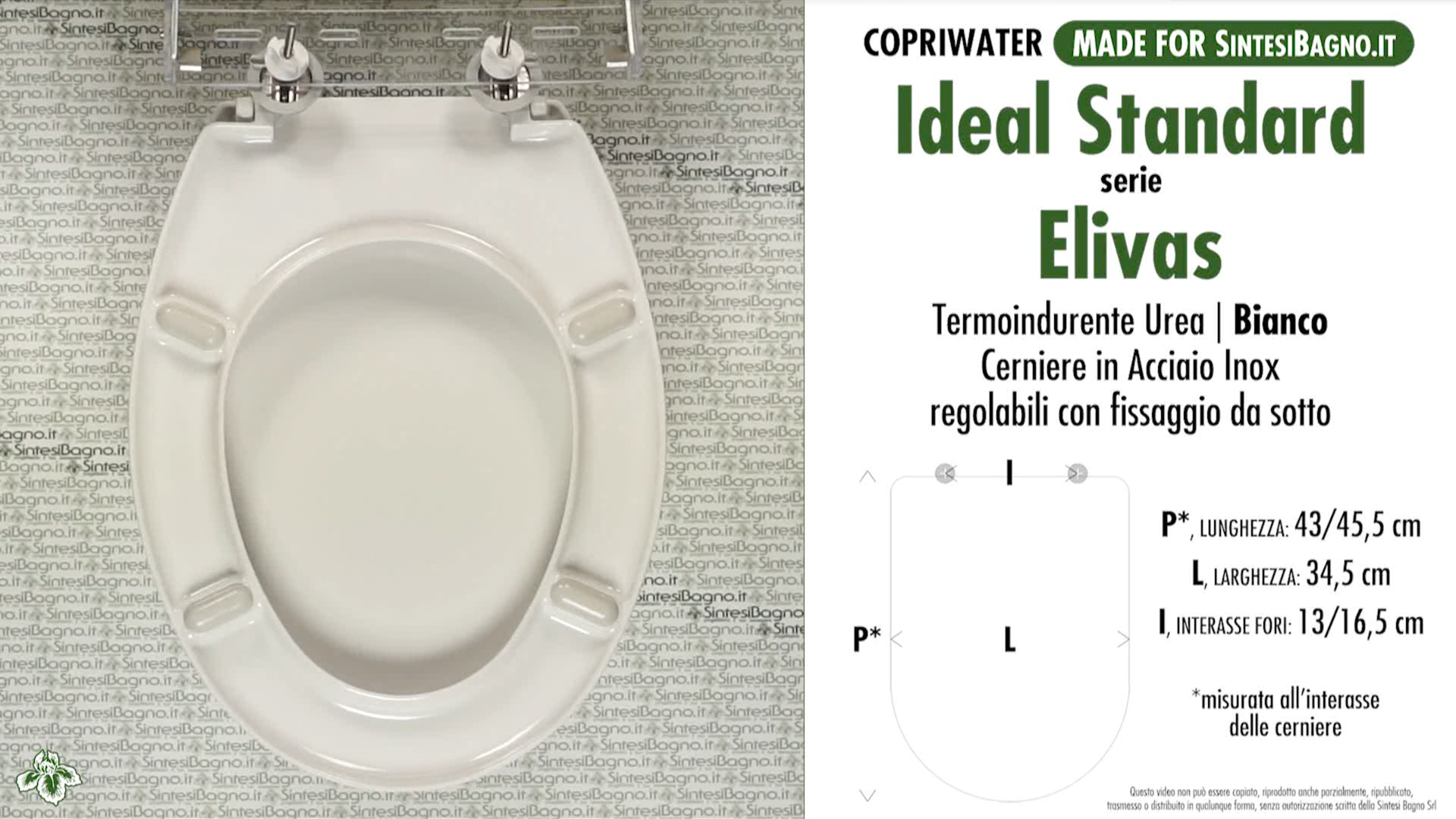 Copriwater per wc elivas ideal standard ricambio for Copriwater ideal