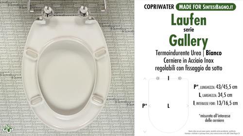 Copriwater GALLERY LAUFEN termoindurente compatibile