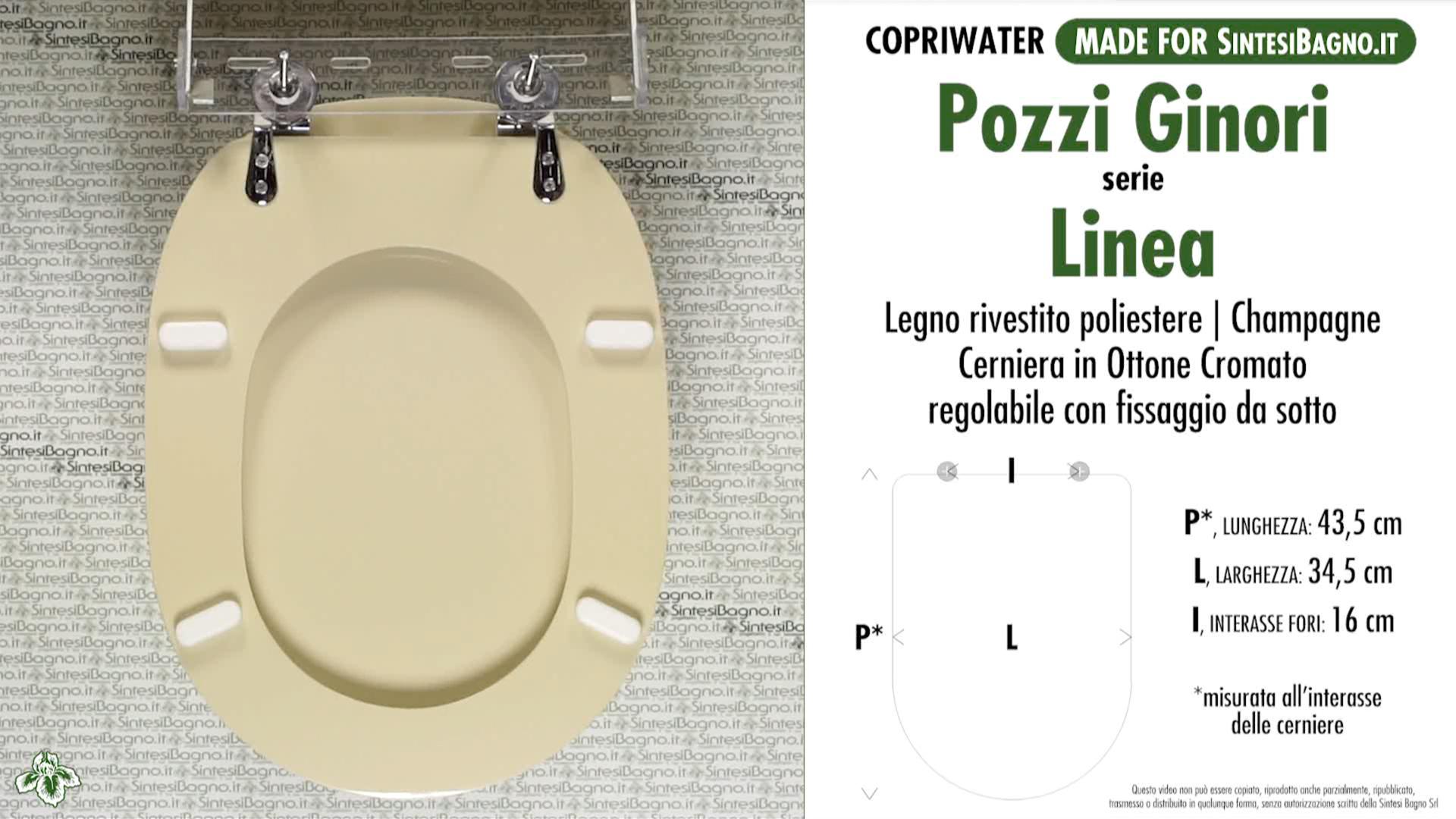 Copriwater coprivaso compatibile serie Ipsilon Azienda Pozzi Ginori