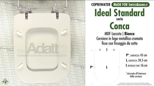 Copriwater per wc conca ideal standard tipo adattabile for Ideal standard conca prezzo