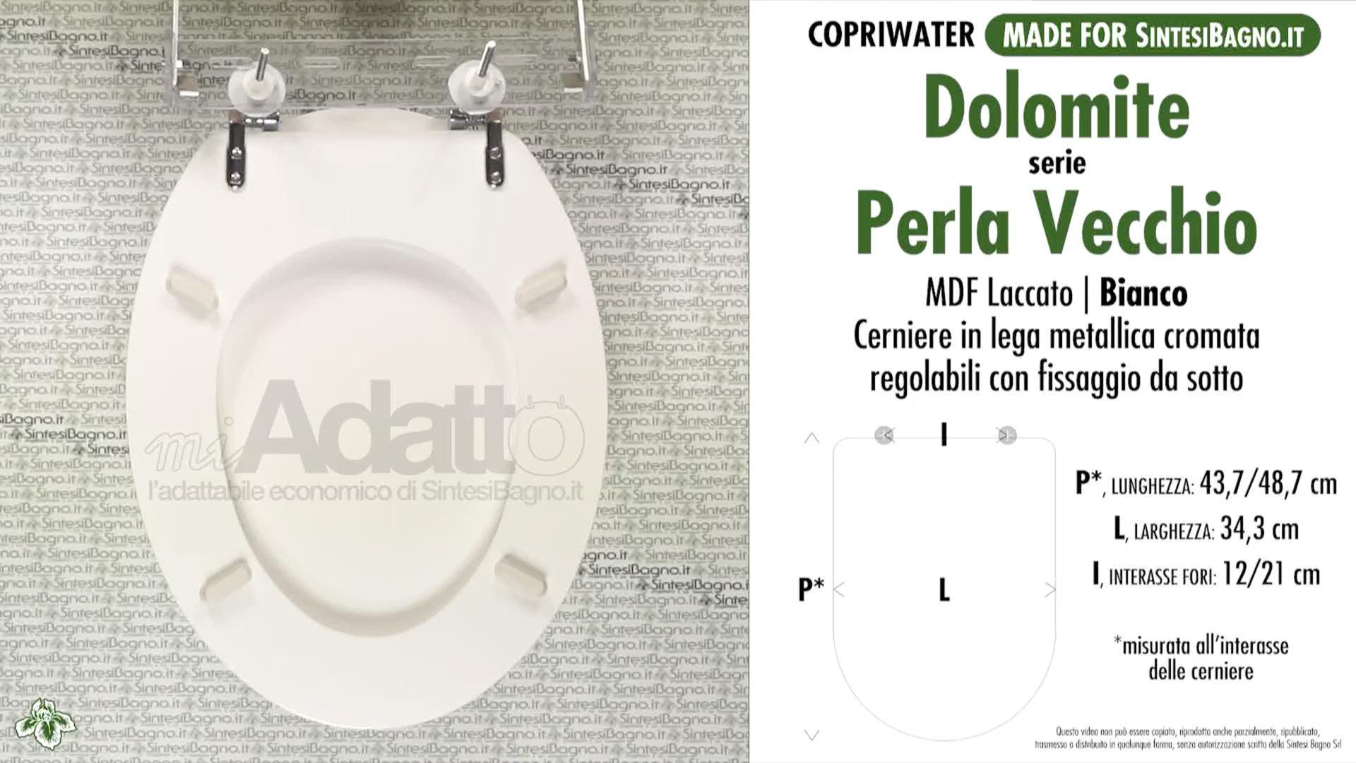 Sedile Wc Dolomite Perla.Copriwater Per Wc Perla Vecchio Classic Dolomite Tipo Adattabile
