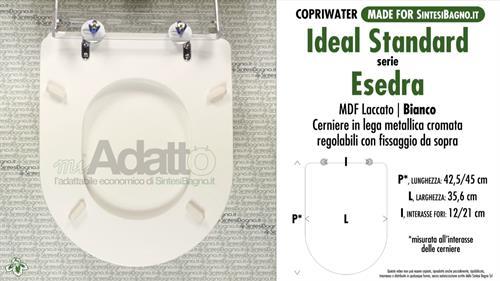Copriwater Per Wc Esedra Ideal Standard Tipo Adattabile Prezzo Economico Sintesibagno Shop Online
