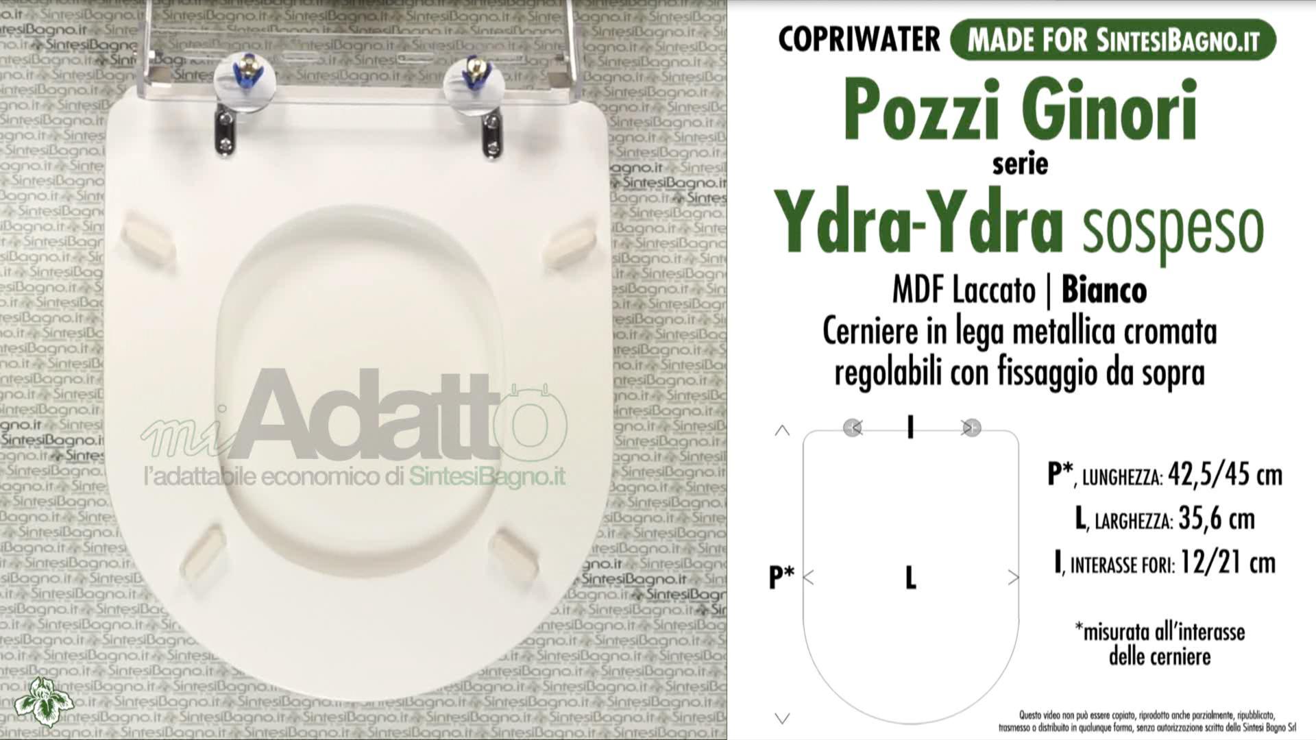 Sedile Wc Pozzi Ginori Ydra.Copriwater Per Wc Ydra Pozzi Ginori Tipo Adattabile Prezzo