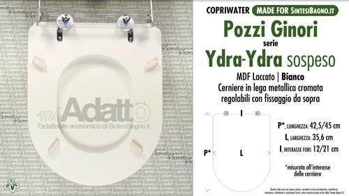 Sedile Wc Pozzi Ginori Ydra.Copriwater Per Wc Ydra Pozzi Ginori Tipo Adattabile Prezzo Economico Sintesibagno Shop Online