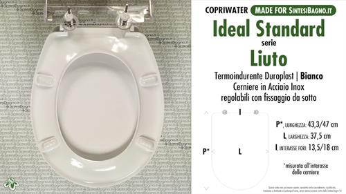 Wc Seat Made For Wc Liuto Ideal Standard Model Type Dedicated