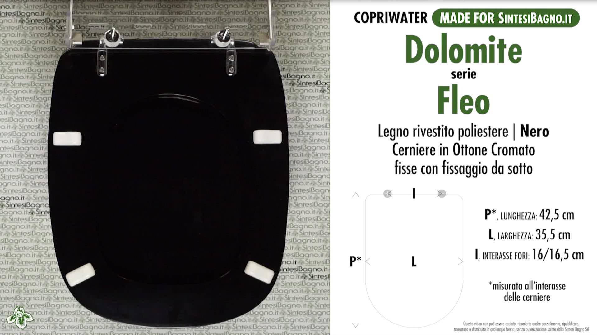 Sedile Wc Dolomite Fleo.Copriwater Per Wc Fleo Dolomite Nero Ricambio Dedicato Legno Rivestito Sintesibagno Shop Online