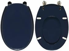 WC-Seat MADE for wc ARIETE SIMI-TENAX Model. NAVY BLUE. Type DEDICATED