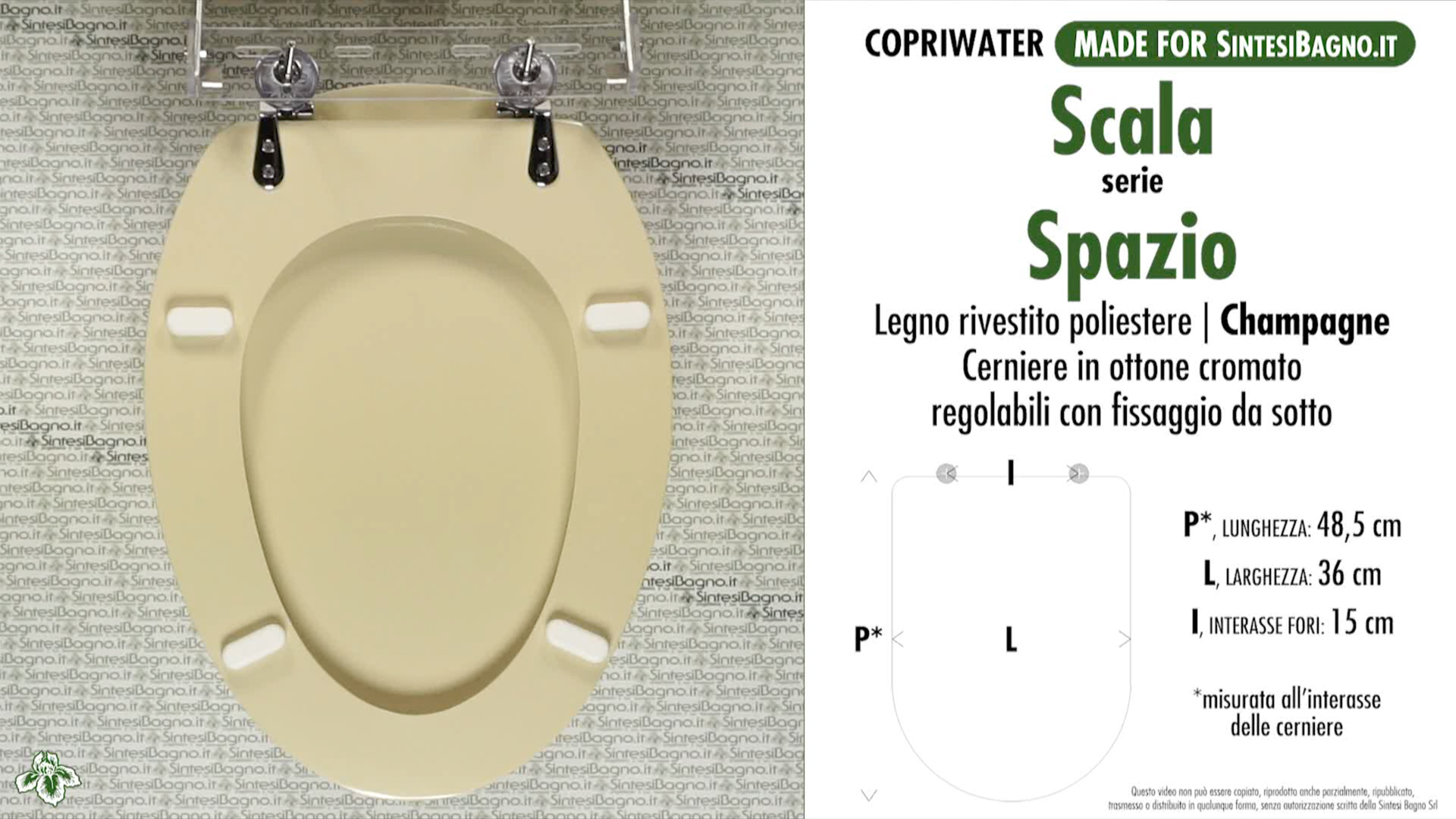 Sanitari Scala Ideal Standard wc-seat made for wc spazio scala model. champagne. type dedicated ✓  sintesibagno.shop online!