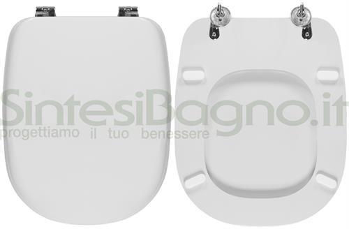 Sedile Wc Ideal Standard Serie Tesi.Copriwater Per Wc Tesi Sospeso Ideal Standard Con Fissaggio Ad Espansione Sintesibagno Shop Online