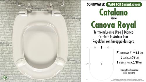 Copriwater originale Catalano Canova in termoindurente