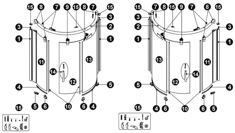 Novellini Box Doccia Ricambi.R05jol 30 Ricambi Fine Corsa Per Box Doccia Jolly R 1a Novellini