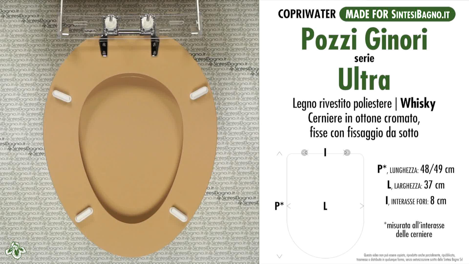 Pozzi Ginori Sedile Wc.Copriwater Per Wc Ultra Pozzi Ginori Whisky Ricambio Dedicato Sintesibagno Shop Online